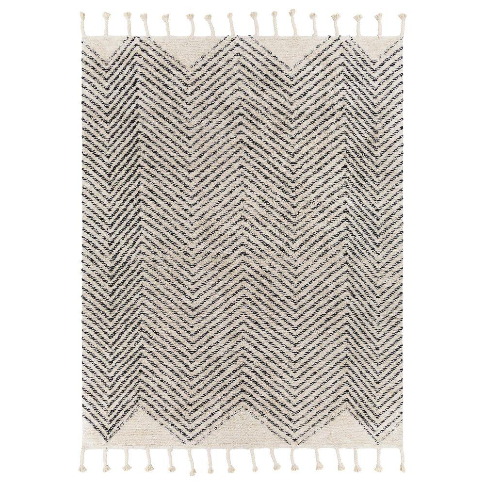 "Surya Carpet, Inc. Khemisset 8"" x 10"" Charcoal and Cream Area Rug, , large"