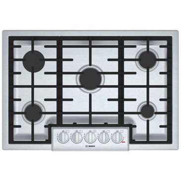 "Bosch 800 Series 30"" 5-Burner Gas Cooktop in Stainless Steel , , large"