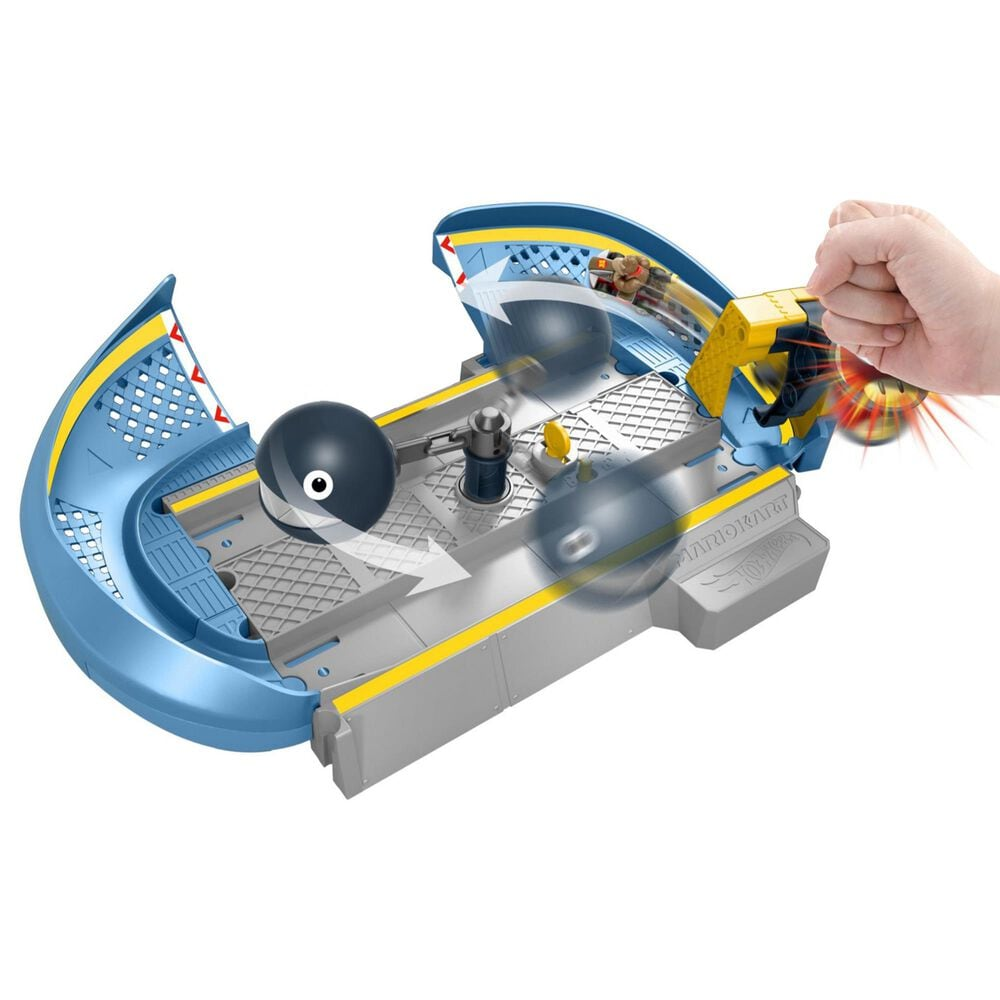 Mattel Hot Wheels Mario Kart Chain Chomp Track Set, , large