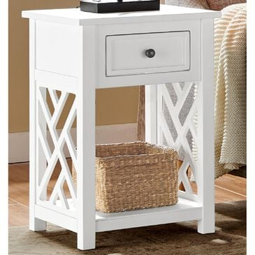 Bolton Furniture Coventry End Table in White, , large