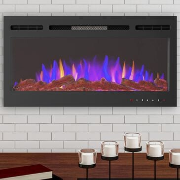 """Timberlake Hastings Home 36"""" Electric Fireplace Wall Mount in Black, , large"""