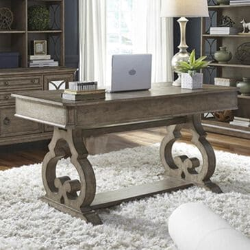 Belle Furnishings Simply Elegant Writing Desk in Heathered Taupe, , large