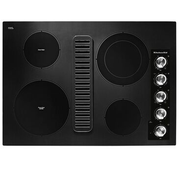 "KitchenAid 30"" Electric Downdraft Cooktop in Black, , large"