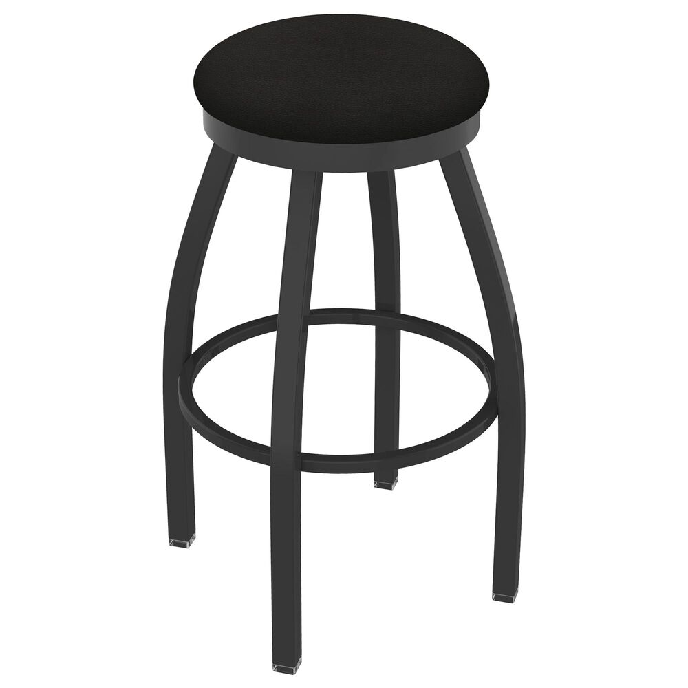"""Holland Bar Stool 802 Misha 30"""" Swivel Bar Stool with Pewter and Canter Espresso Seat, , large"""