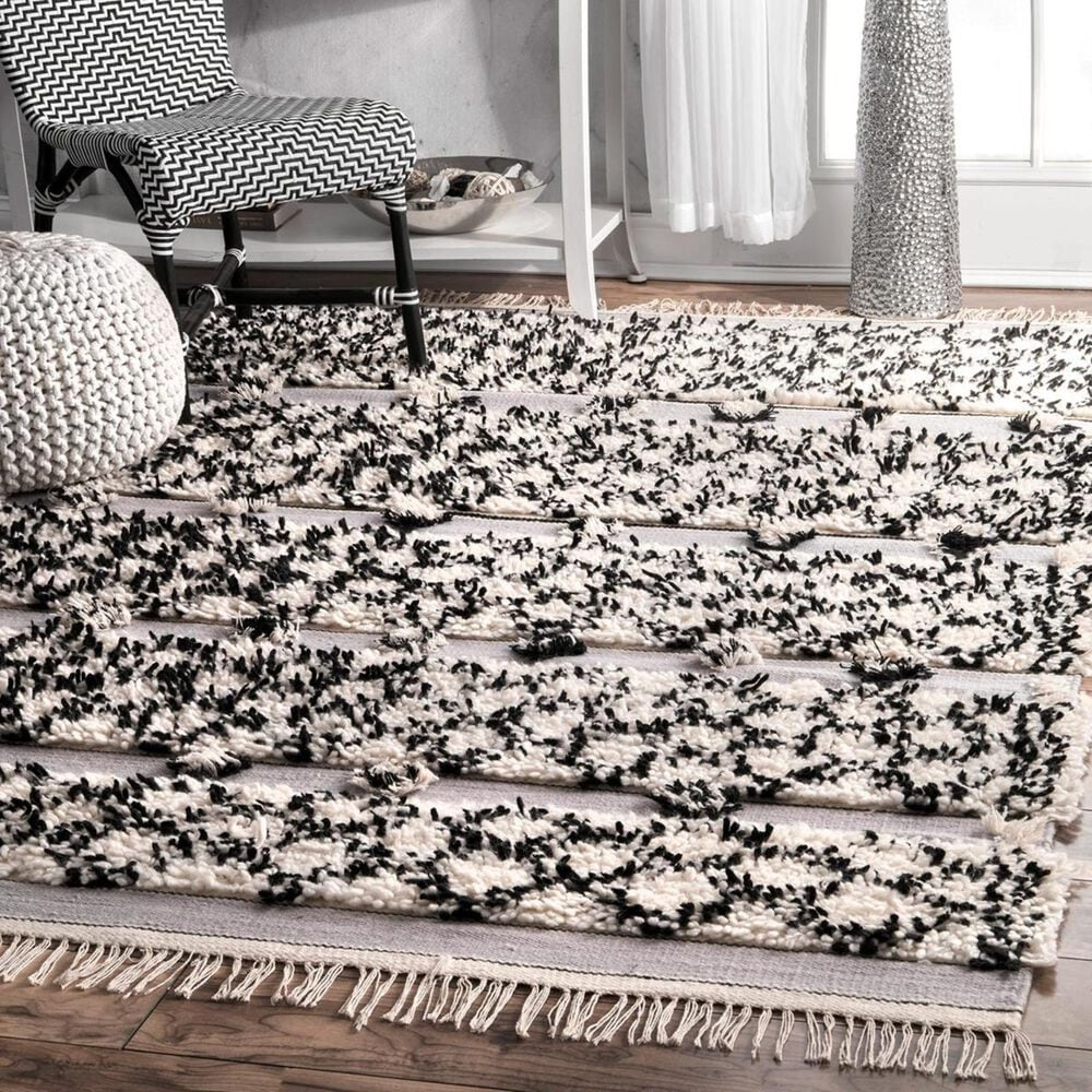 """nuLOOM Marrakech MTMR01B 7'7"""" x 9'6"""" Silver Area Rug, , large"""