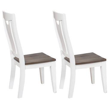Chromcraft Cochrane Side Chair in White/Light Gray (Set of 2), , large