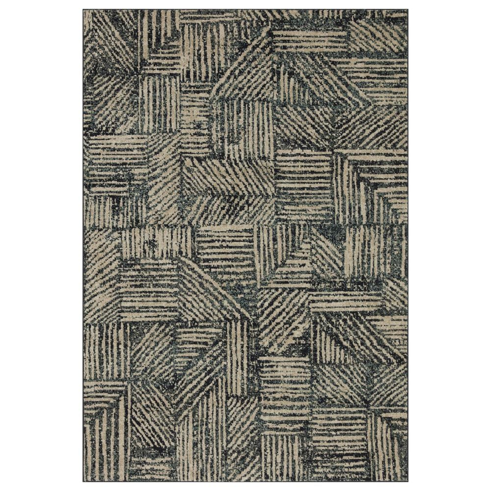 Loloi II Bowery 4' x 6' Midnight and Taupe Area Rug, , large