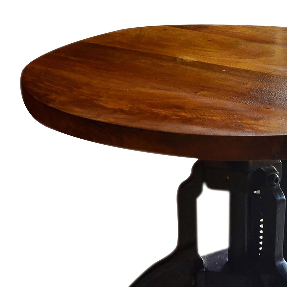 Carolina Chair and Table Regan Adjustable Accent Table in Chestnut and Black, , large
