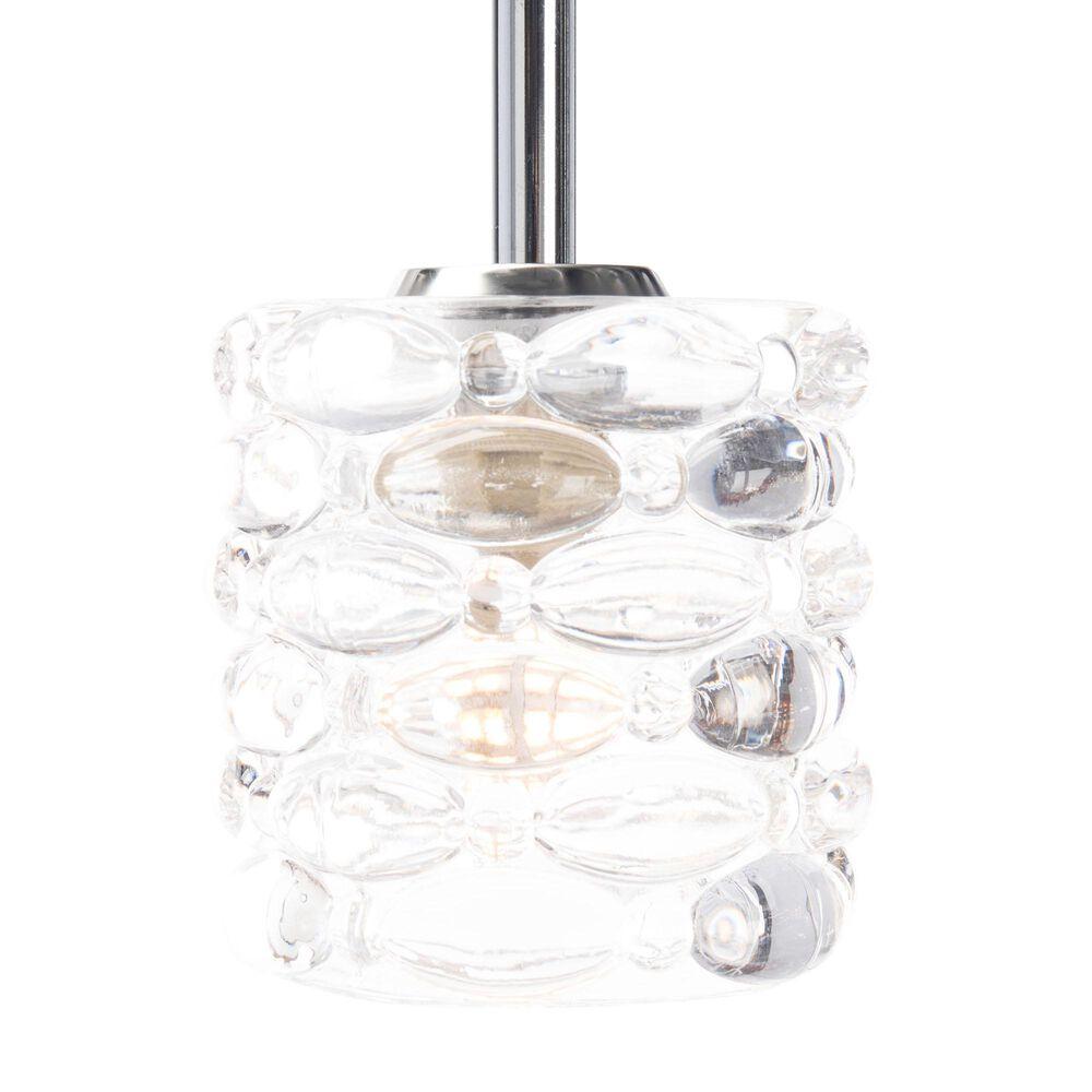 Safavieh Gannen Pendant Light in Silver/Clear, , large