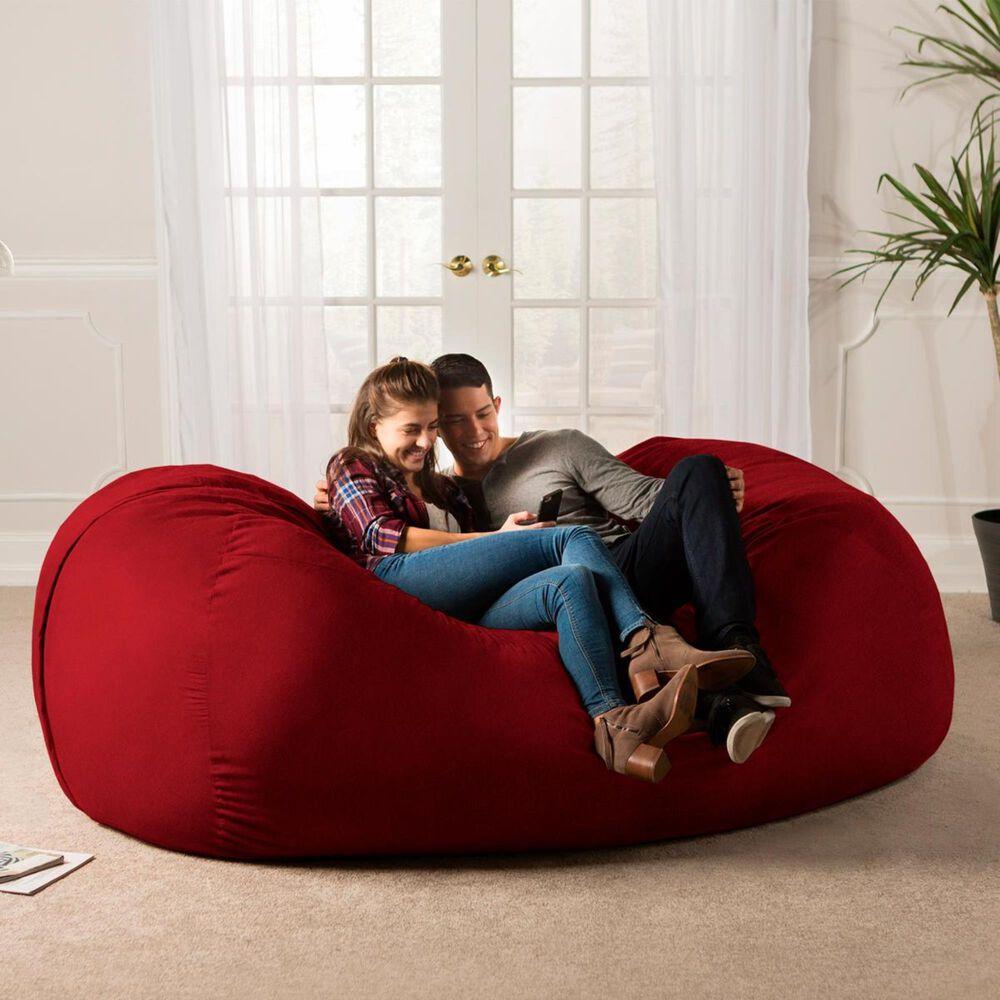 Jaxx 7' Giant Bean Bag Sofa in Cinnabar, , large