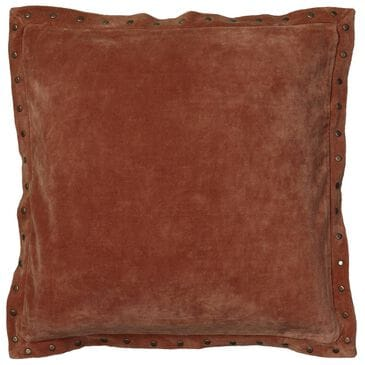 """Rizzy Home 18"""" x 18"""" Pillow Cover in Solid Orange, , large"""