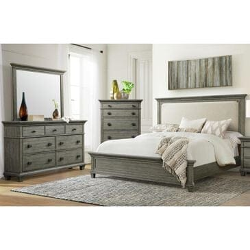 Mayberry Hill Crawford 3 Piece Queen Bedroom Set in Grey, , large