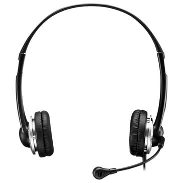 Adesso Xtream P2 USB Stereo Headphone with Adjustable Noise Canceling Microphone in Black, , large