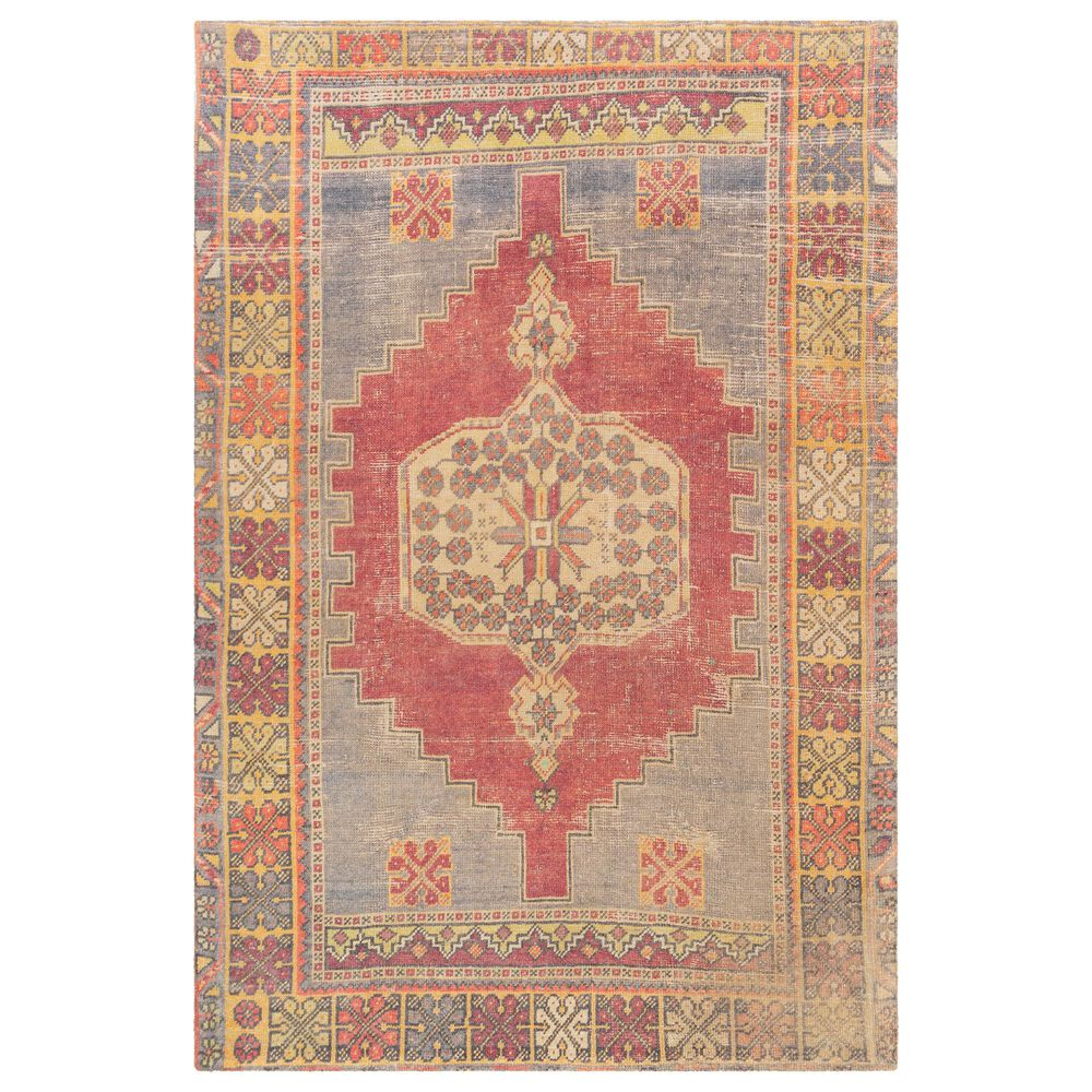 "Surya Unique UNQ-2309 2'6"" x 4' Red, Saffron and Wheat Area Rug, , large"