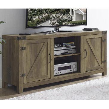 "Walker Edison 58"" TV Stand with Side Doors in Rustic Oak, , large"