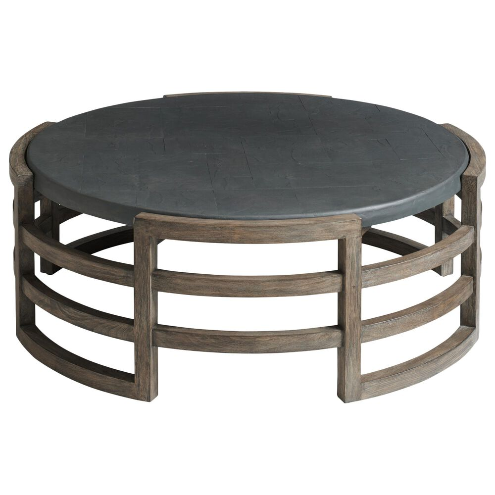 Lexington Furniture La Jolla Round Cocktail Table in Gray, , large