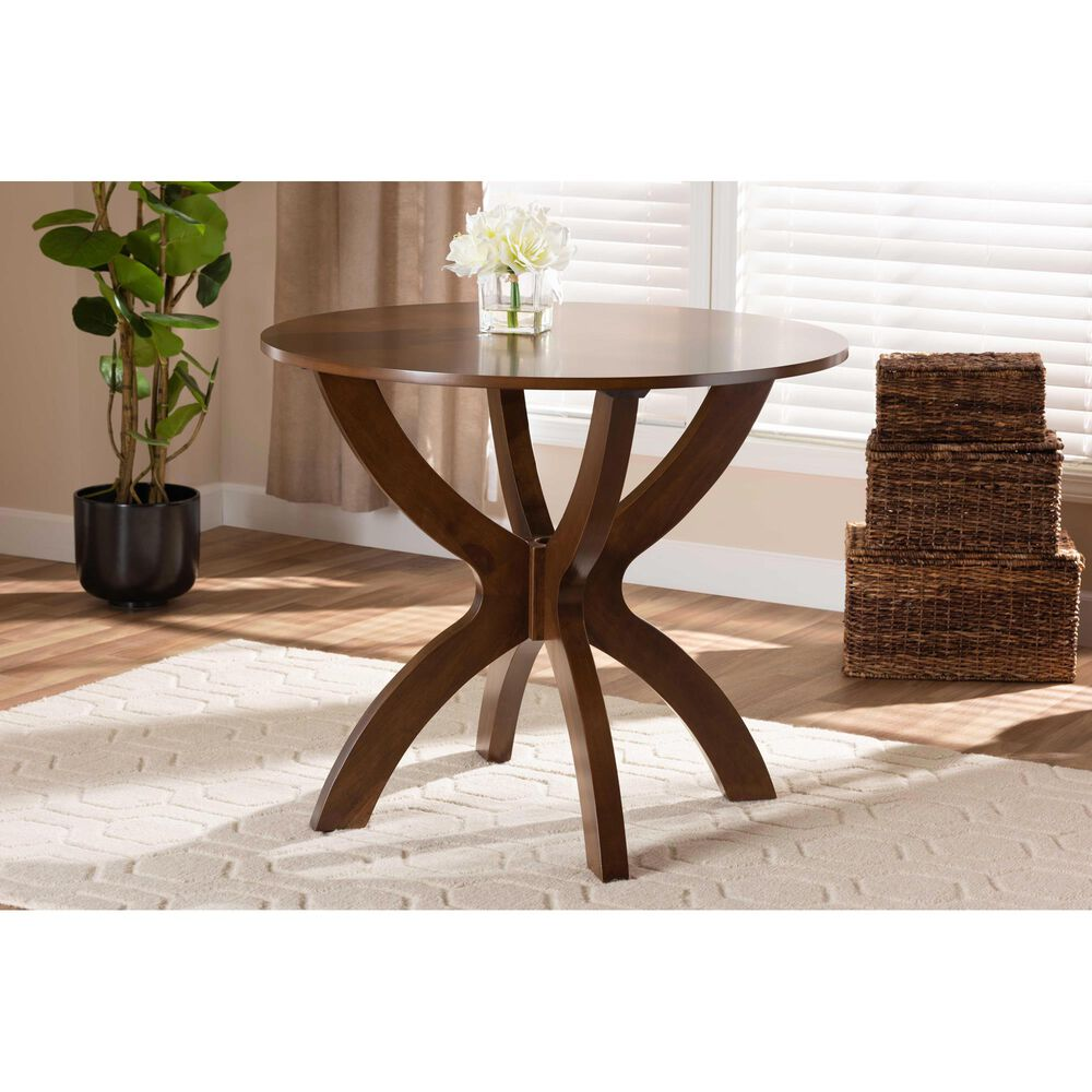 "Baxton Studio Tilde 35"" Dining Table in Walnut, , large"