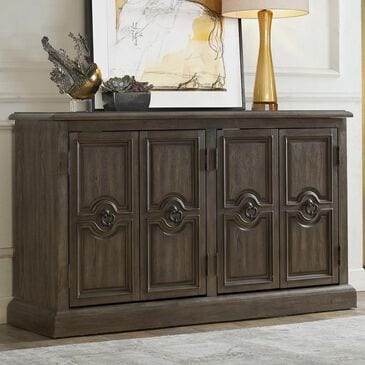 Accentric Approach Accentric Accents Carved 4-Door Accent Chest in Brown, , large