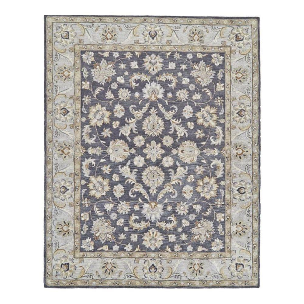 Feizy Rugs Eaton 8397F 3'6'' x 5'6'' Charcoal Area Rug, , large