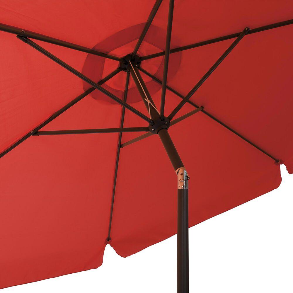 CorLiving 10' Round Tilting Patio Umbrella in Crimson Red, , large