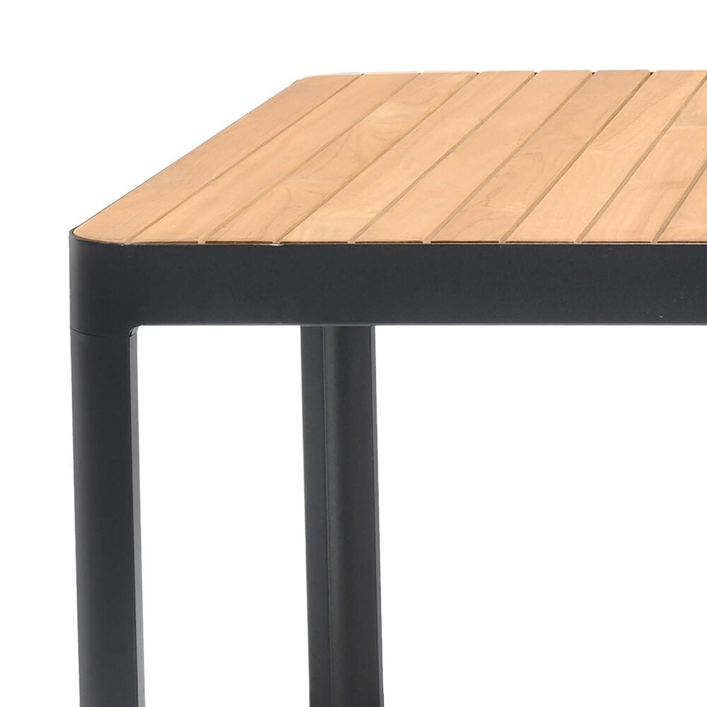 Blue River Portals Patio Dining Table in Black/Teak, , large