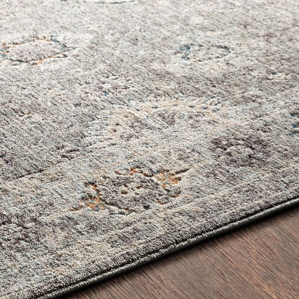 """Surya Presidential PDT-2307 3'3"""" x 8' Gray and Orange Area Rug, , large"""