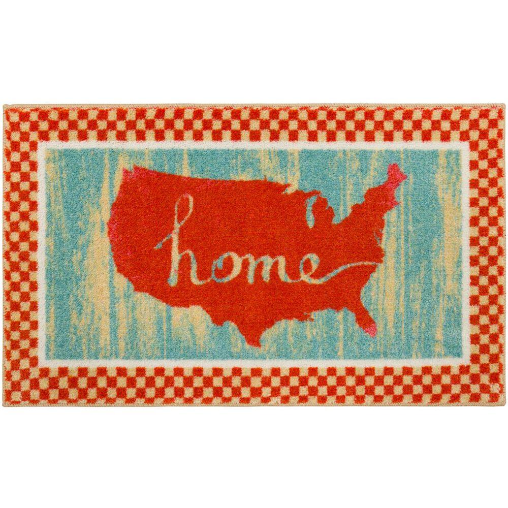 "Karastan Americana USA 2' x 3'3"" Red Area Rug , , large"