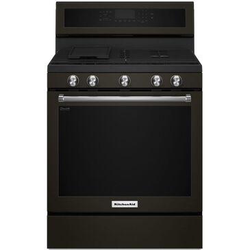 "KitchenAid 30"" Gas Range in Black Stainless Steel, , large"