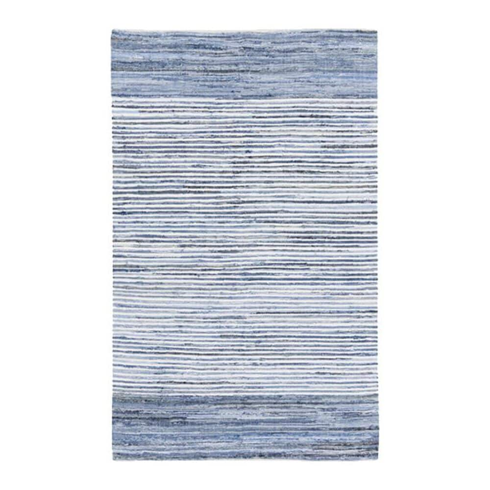"""Surya Denim DNM-1001 2"""" x 3"""" Blue and Navy Scatter Rug, , large"""