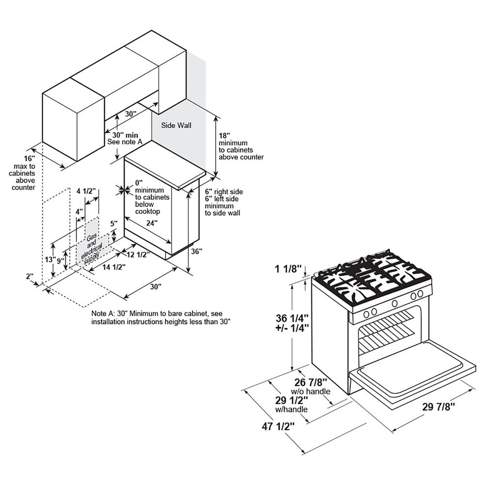 "GE Profile 30"" Smart Slide-In Front-Control Gas Range in Fingerprint Resistant Stainless Steel, , large"