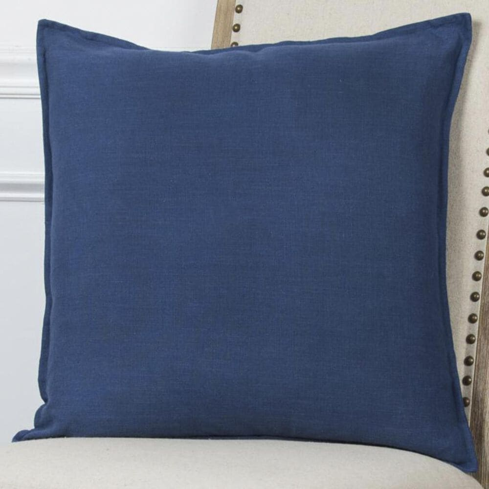 """Rizzy Home 20"""" x 20"""" Pillow Cover in Blue, , large"""