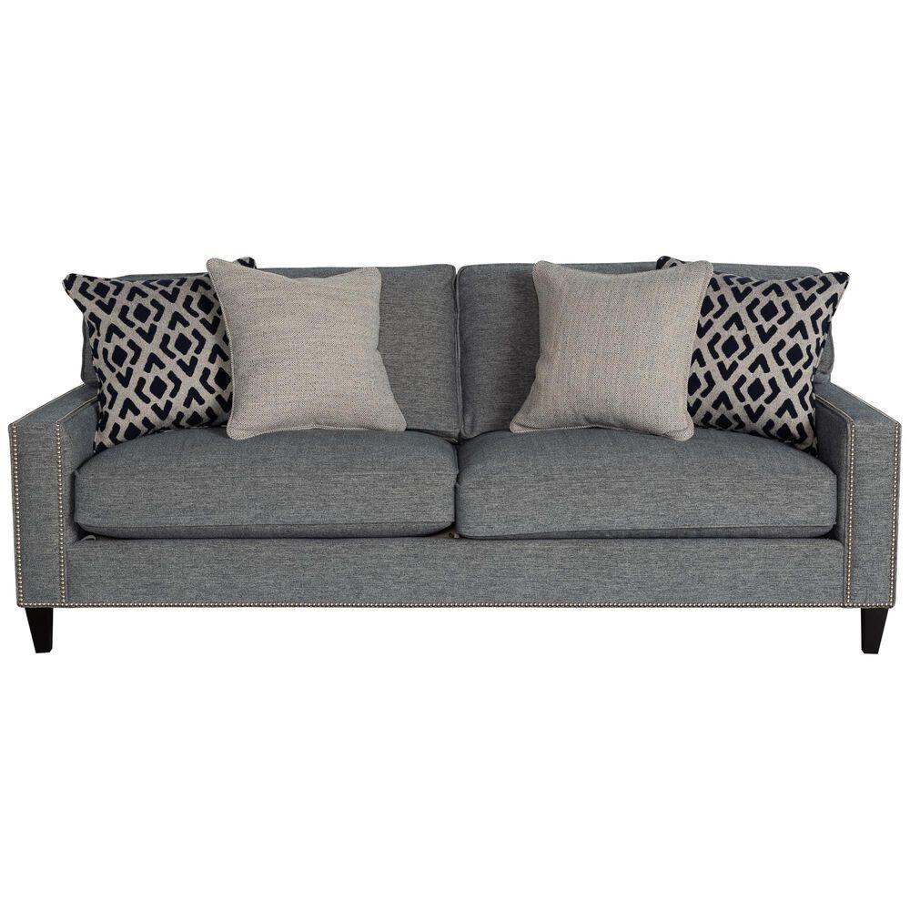 Bernhardt Signature Seating Track Arm Sofa in Denim Blue, , large