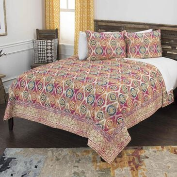 """Rizzy Home Serendipity 90"""" x 92"""" Quilt Set in Orange, , large"""