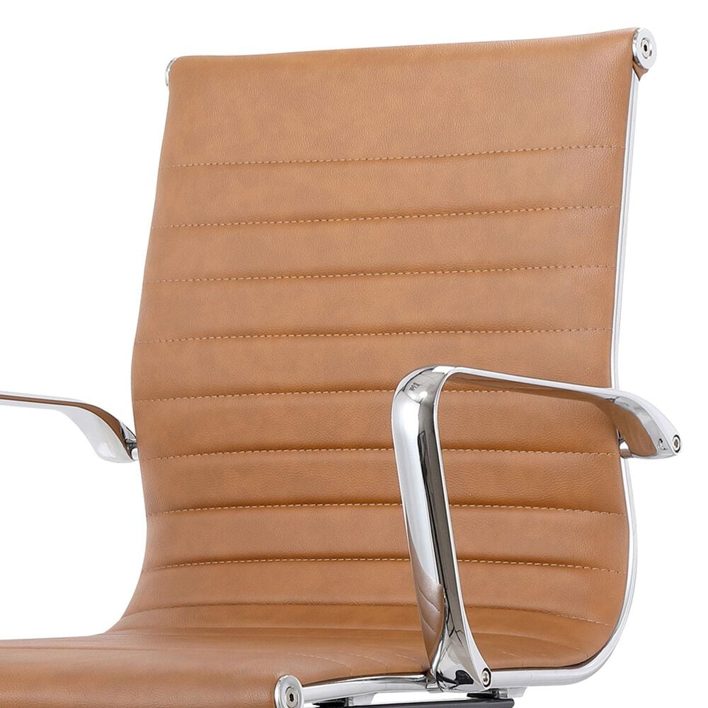 Moe's Home Collection Omega Swivel Office Chair in Brown, , large