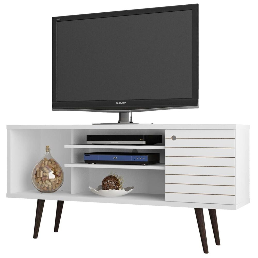 """Living Essentials Liberty 53.14"""" TV Stand in White, , large"""