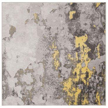 Safavieh Adirondack ADR134H 8' Square Grey and Yellow Area Rug, , large