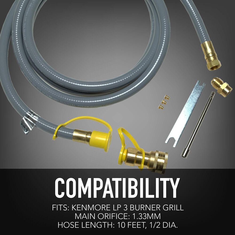 Permasteel Inc Natural Gas Conversion Kit for Kenmore Grills 3-Burner, , large