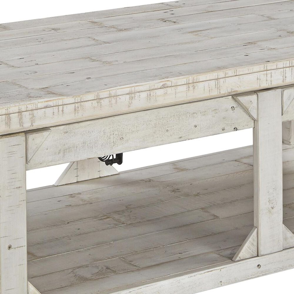 Signature Design by Ashley Fregine Lift Top Cocktail Table in Whitewash, , large