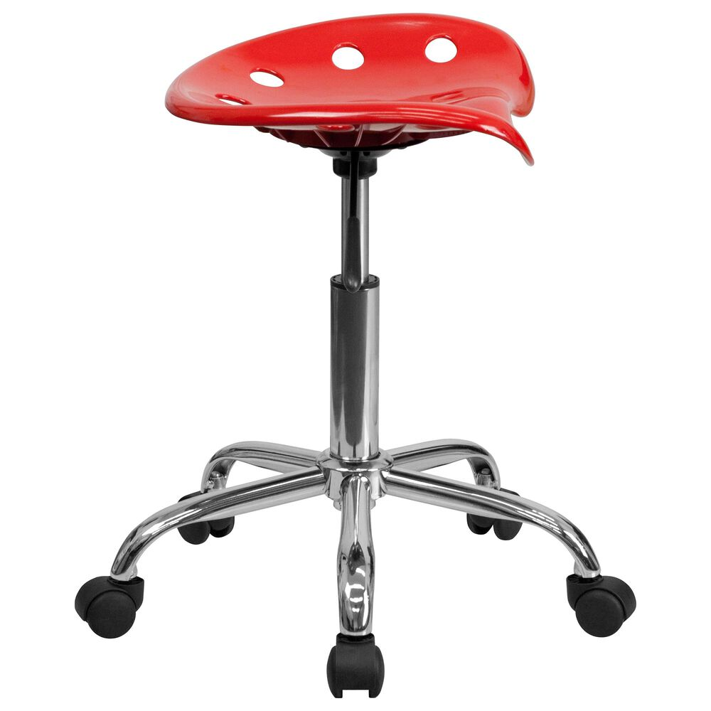 Flash Furniture Vibrant Tractor Seat Stool in Red, , large