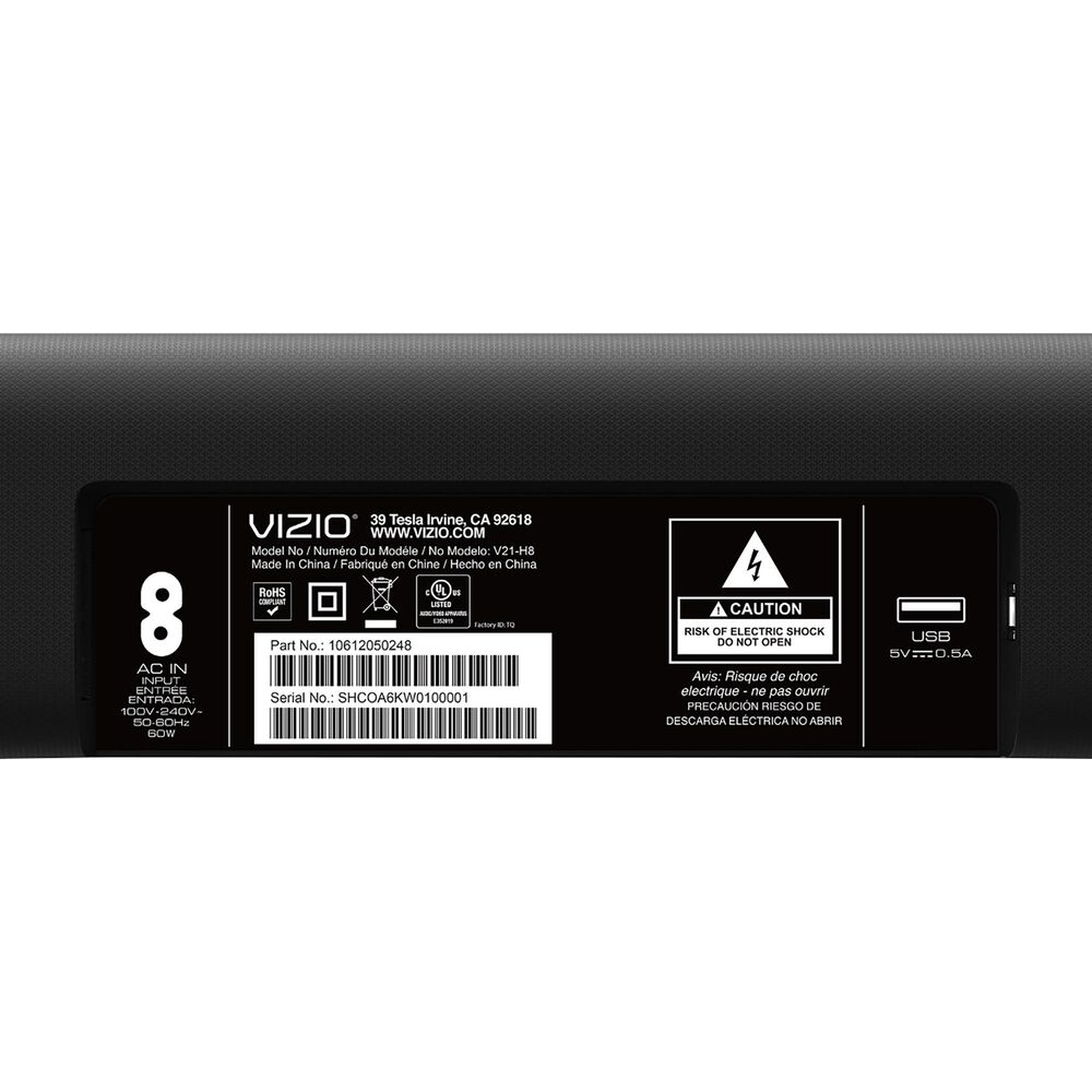 VIZIO 2.1 Channel Soundbar with Wireless Subwoofer in Black, , large