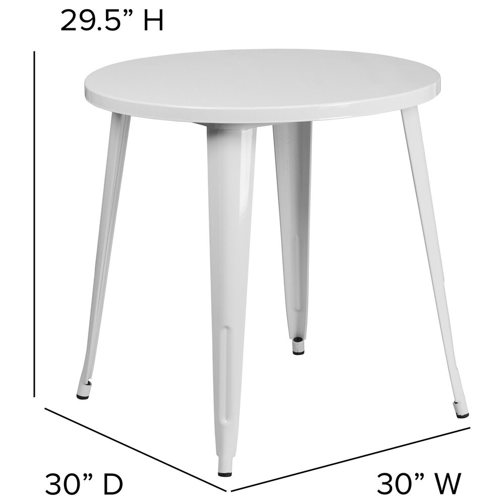 """Flash Furniture 30"""" Round Table in White, , large"""