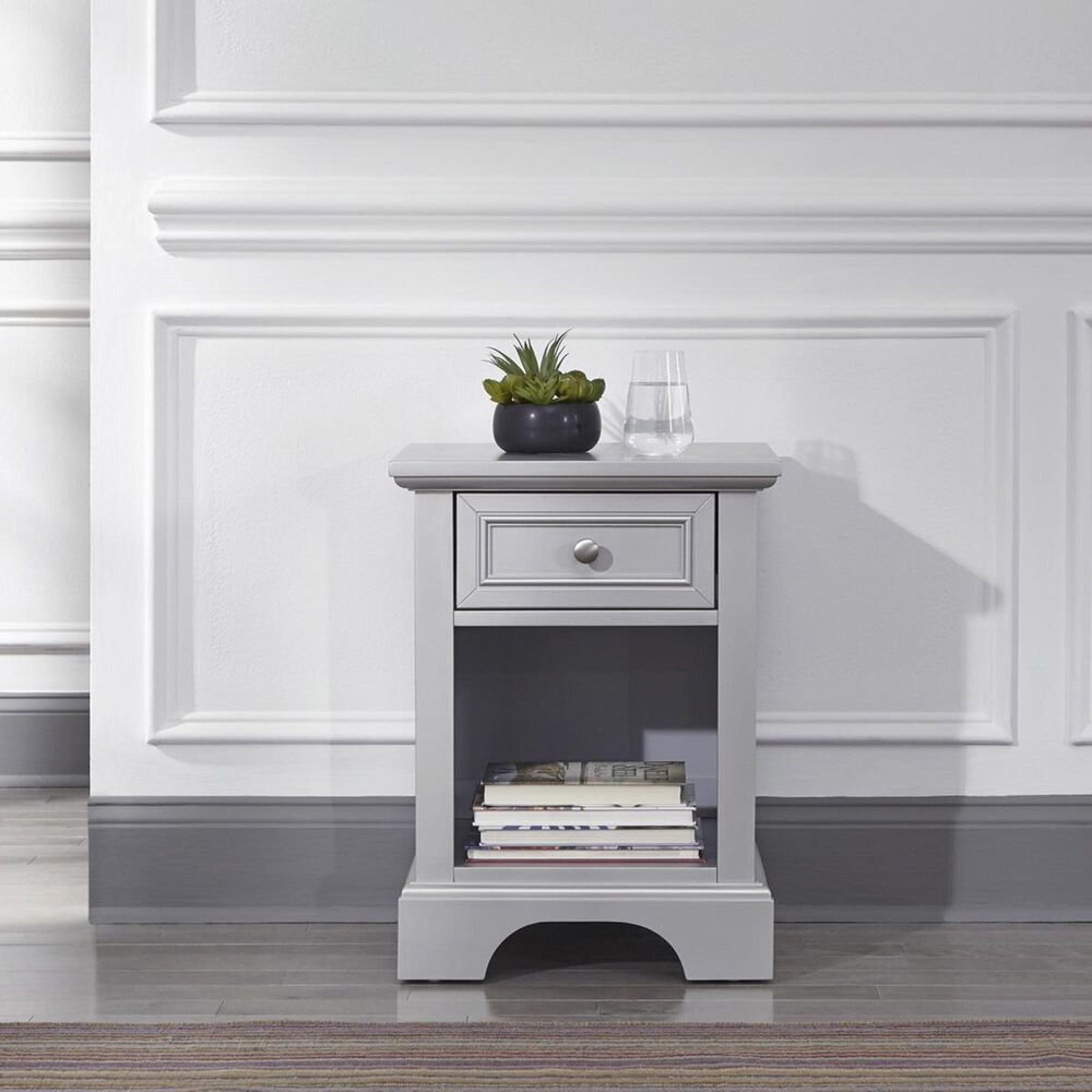 Homestyles Venice Nightstand in Silver/Grey, , large