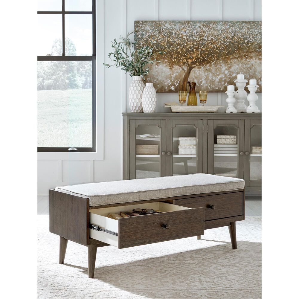 Signature Design by Ashley Chetfield Storage Bench in Warm Brown, , large