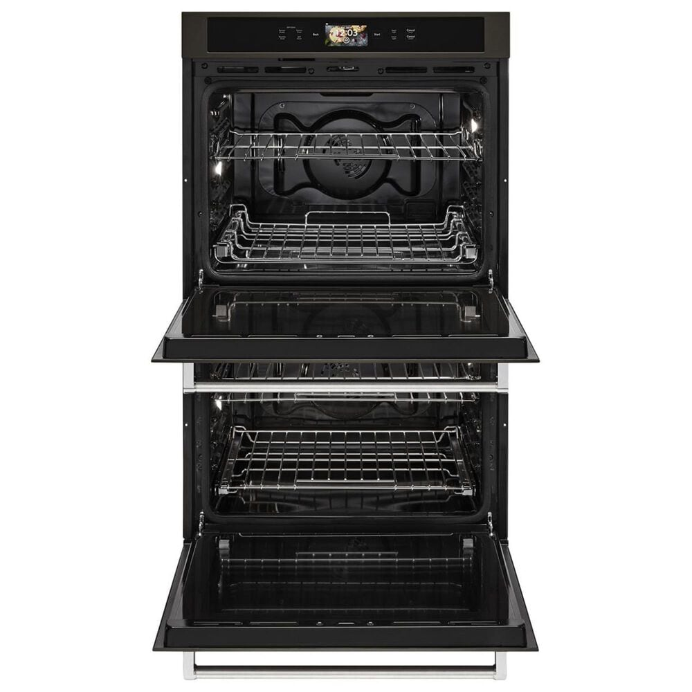 """KitchenAid 30"""" Double Wall Oven in Black Stainless Steel, , large"""