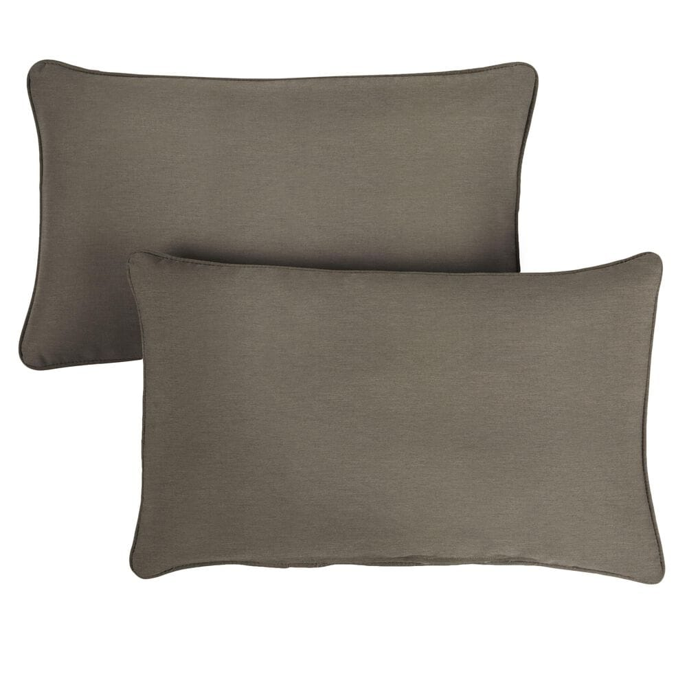 """Sorra Home Sunbrella 16"""" x 26"""" Pillow in Canvas Taupe (Set of 2), , large"""
