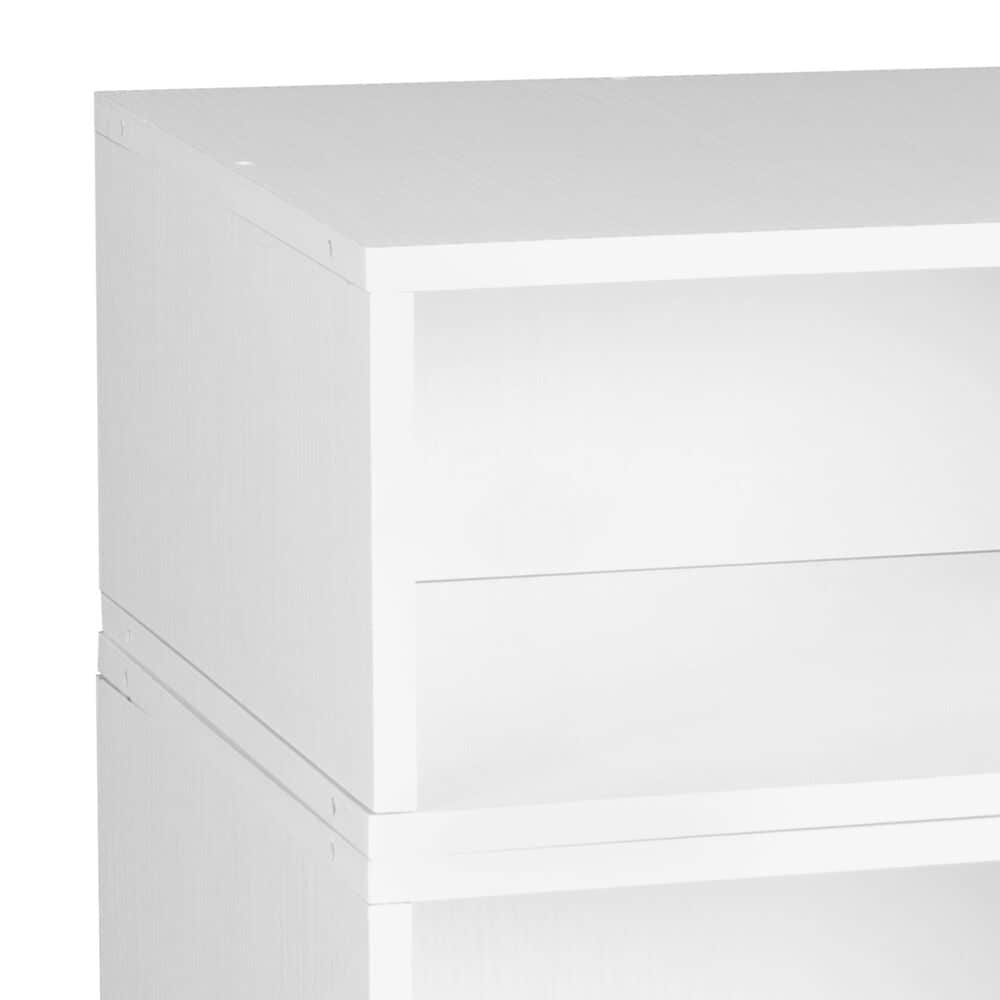 Regency Global Sourcing Niche Cubo 2-Piece Storage Cube Set in White Wood, , large
