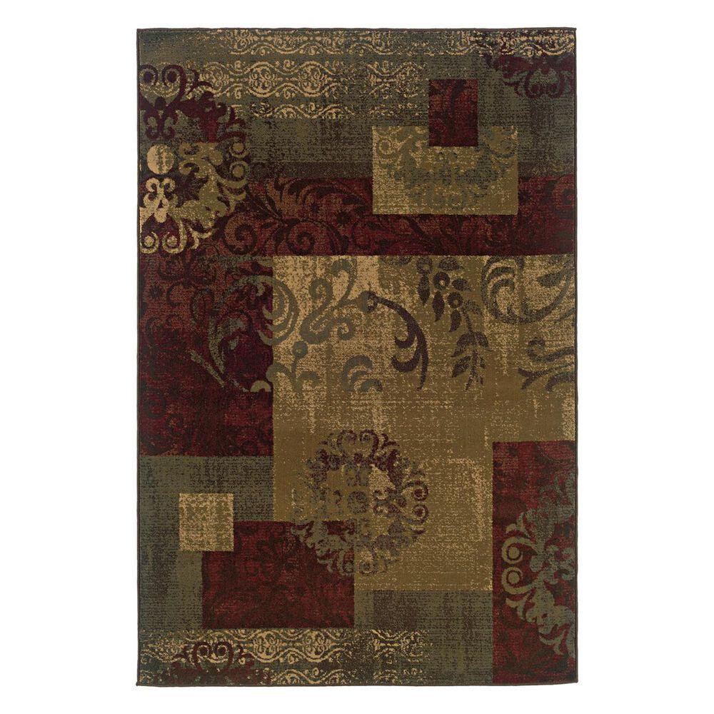 "Oriental Weavers Tybee 851U6 1""11"" x 7""6"" Green Runner, , large"