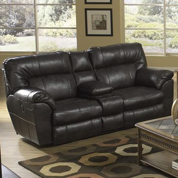 Portland Industries Console Manual Reclining Loveseat in Chocolate, , large