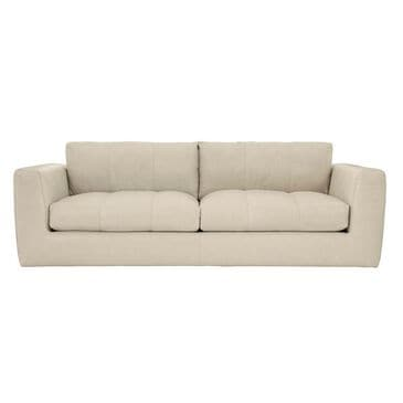 Bernhardt Remi Plush Leather Sofa in Moon Dance White, , large