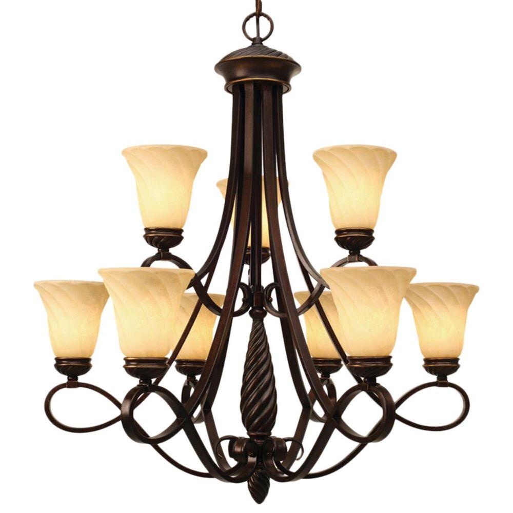 Golden Lighting Torbellino 9-Light 2 Tier Chandelier in Cordoban Bronze, , large